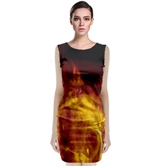 Ablaze Abstract Afire Aflame Blaze Classic Sleeveless Midi Dress