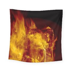 Ablaze Abstract Afire Aflame Blaze Square Tapestry (small)
