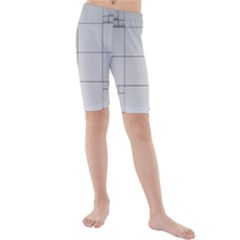 Abstract Architecture Contemporary Kids  Mid Length Swim Shorts