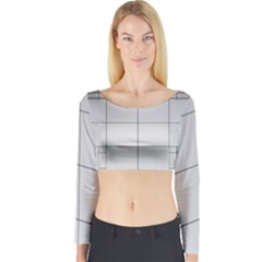 Abstract Architecture Contemporary Long Sleeve Crop Top