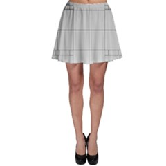 Abstract Architecture Contemporary Skater Skirt