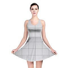 Abstract Architecture Contemporary Reversible Skater Dress