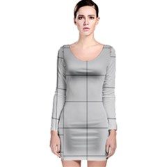 Abstract Architecture Contemporary Long Sleeve Bodycon Dress