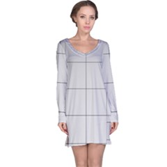 Abstract Architecture Contemporary Long Sleeve Nightdress
