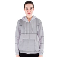 Abstract Architecture Contemporary Women s Zipper Hoodie