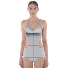 Abstract Architecture Contemporary Cut Out One Piece Swimsuit