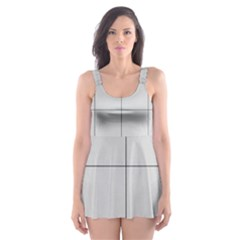 Abstract Architecture Contemporary Skater Dress Swimsuit