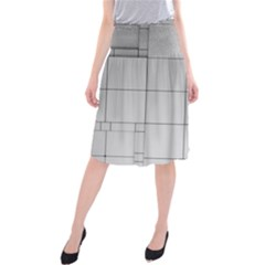 Abstract Architecture Contemporary Midi Beach Skirt