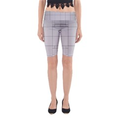 Abstract Architecture Contemporary Yoga Cropped Leggings