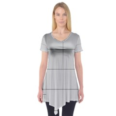 Abstract Architecture Contemporary Short Sleeve Tunic
