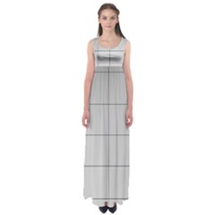 Abstract Architecture Contemporary Empire Waist Maxi Dress