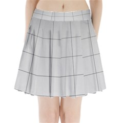 Abstract Architecture Contemporary Pleated Mini Skirt