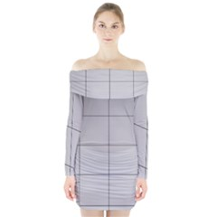 Abstract Architecture Contemporary Long Sleeve Off Shoulder Dress