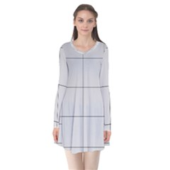 Abstract Architecture Contemporary Flare Dress