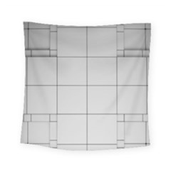 Abstract Architecture Contemporary Square Tapestry (small)