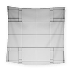 Abstract Architecture Contemporary Square Tapestry (large)