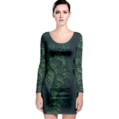 Abstract Art Background Biology Long Sleeve Bodycon Dress