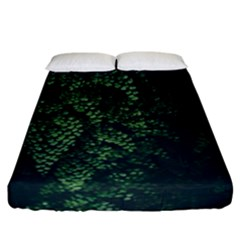 Abstract Art Background Biology Fitted Sheet (california King Size)