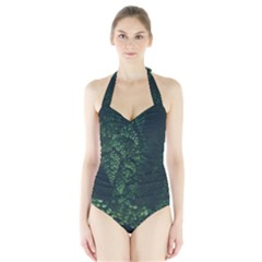 Abstract Art Background Biology Halter Swimsuit