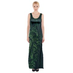 Abstract Art Background Biology Maxi Thigh Split Dress