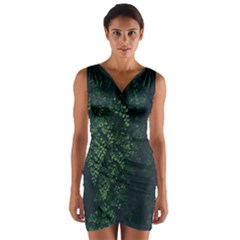 Abstract Art Background Biology Wrap Front Bodycon Dress