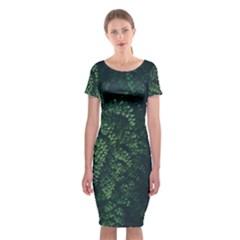 Abstract Art Background Biology Classic Short Sleeve Midi Dress