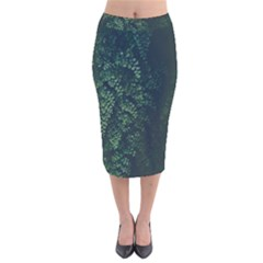 Abstract Art Background Biology Velvet Midi Pencil Skirt