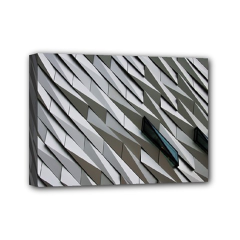Abstract Background Geometry Block Mini Canvas 7  X 5