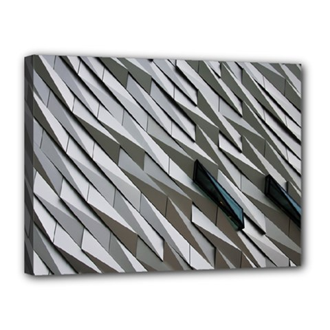 Abstract Background Geometry Block Canvas 16  X 12