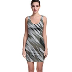 Abstract Background Geometry Block Sleeveless Bodycon Dress