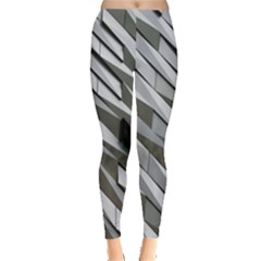 Abstract Background Geometry Block Leggings