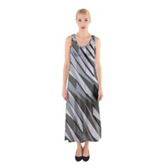 Abstract Background Geometry Block Sleeveless Maxi Dress