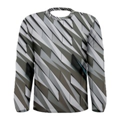 Abstract Background Geometry Block Men s Long Sleeve Tee