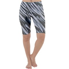 Abstract Background Geometry Block Cropped Leggings