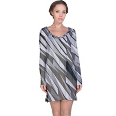 Abstract Background Geometry Block Long Sleeve Nightdress