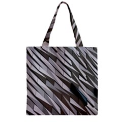 Abstract Background Geometry Block Zipper Grocery Tote Bag