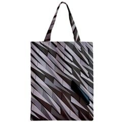 Abstract Background Geometry Block Zipper Classic Tote Bag
