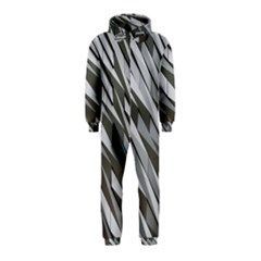 Abstract Background Geometry Block Hooded Jumpsuit (kids)
