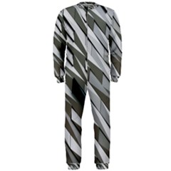 Abstract Background Geometry Block Onepiece Jumpsuit (men)