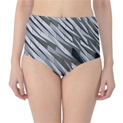 Abstract Background Geometry Block High Waist Bikini Bottoms