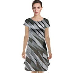 Abstract Background Geometry Block Cap Sleeve Nightdress