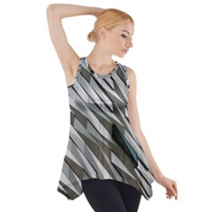 Abstract Background Geometry Block Side Drop Tank Tunic