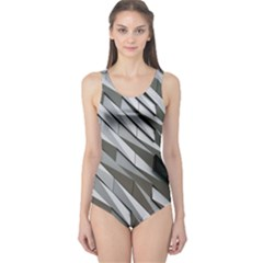 Abstract Background Geometry Block One Piece Swimsuit