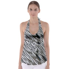 Abstract Background Geometry Block Babydoll Tankini Top