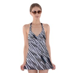 Abstract Background Geometry Block Halter Swimsuit Dress