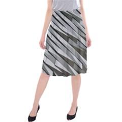 Abstract Background Geometry Block Midi Beach Skirt
