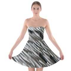 Abstract Background Geometry Block Strapless Bra Top Dress