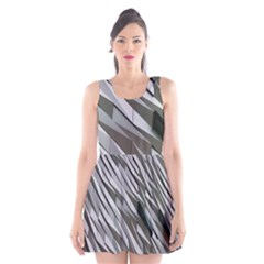 Abstract Background Geometry Block Scoop Neck Skater Dress
