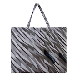 Abstract Background Geometry Block Zipper Large Tote Bag