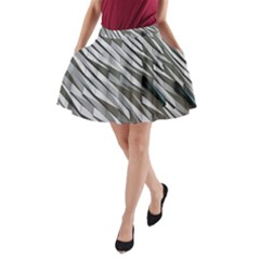 Abstract Background Geometry Block A-Line Pocket Skirt